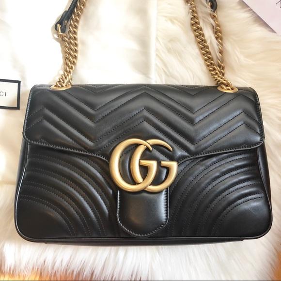 787e7dd01b51 Gucci Bags | Gg Marmont Matelasse Medium Shoulder Bag | Poshmark